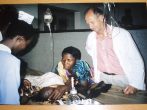 Tim Jenkinson on the Paediatric ward at Kamuli Hospital