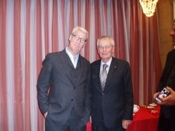 Rotary Doctor Bank Chairman Dr Arthur Knight with Jeremy Paxman