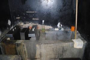 Developing tanks in the darkroom