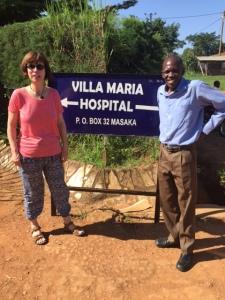 Teresa with Dr Rogers at Villa Maria Hospital