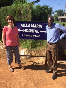 Teresa with Dr Rogers at Villa Maria Hospital