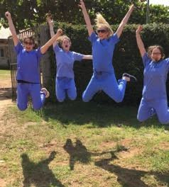 Bristol medical students having received their exam results