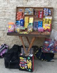 sweet stall outside school